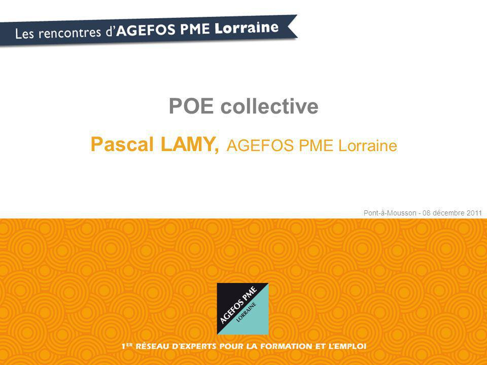 Pascal LAMY, AGEFOS PME Lorraine
