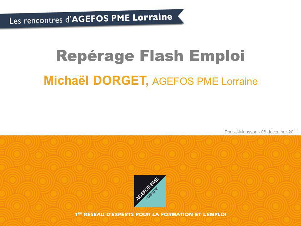 Michaël DORGET, AGEFOS PME Lorraine