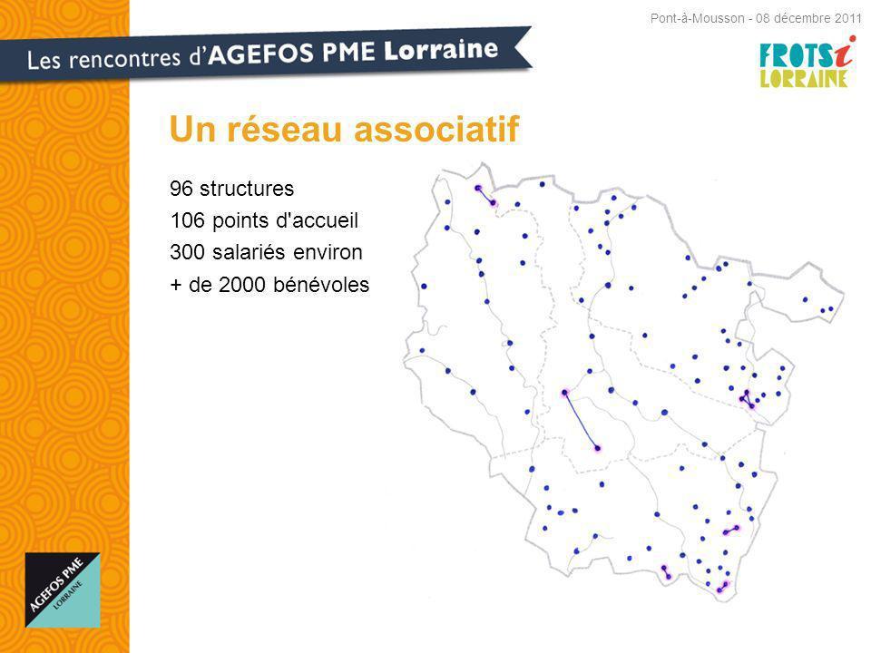 Un réseau associatif 96 structures 106 points d accueil