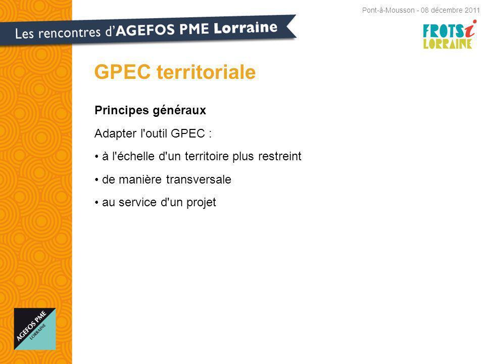 GPEC territoriale Principes généraux Adapter l outil GPEC :