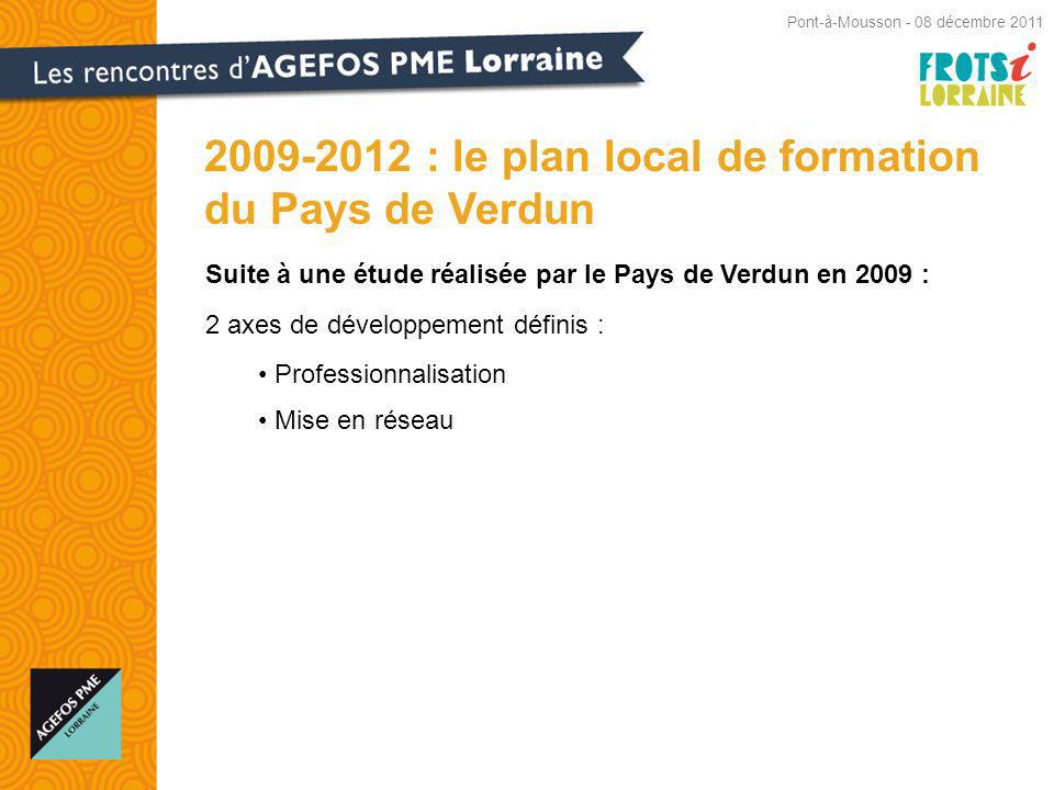 2009-2012 : le plan local de formation du Pays de Verdun