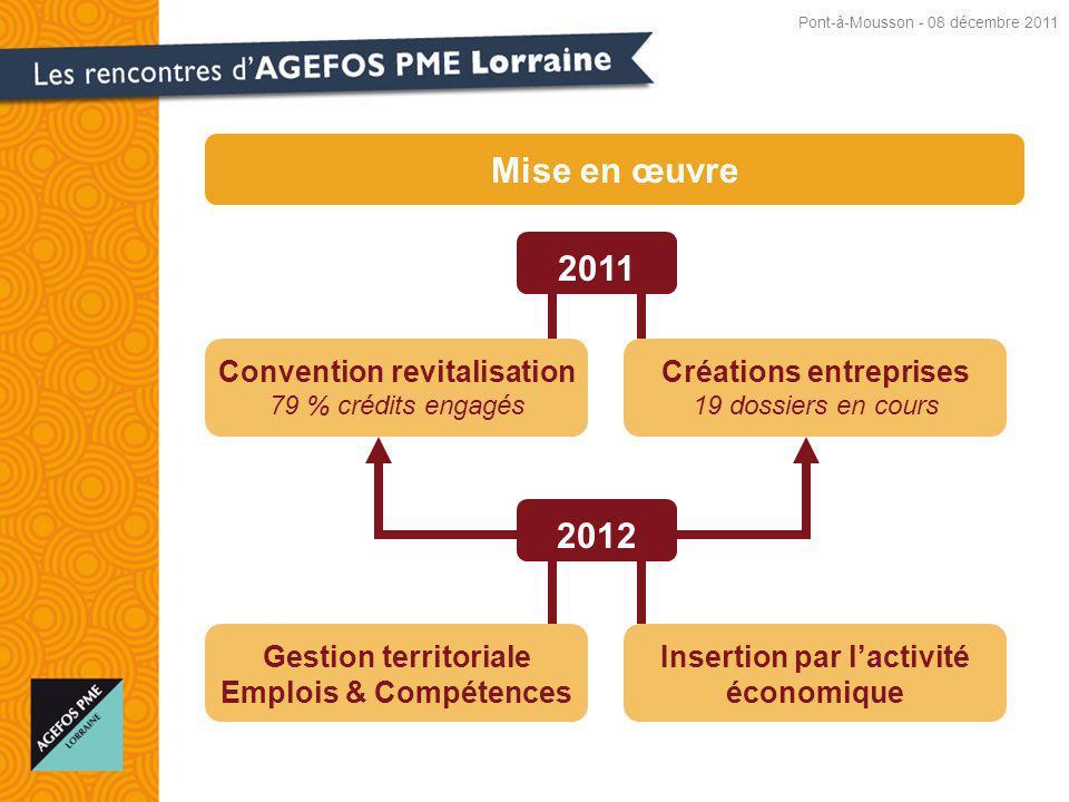 Mise en œuvre 2011 2012 Convention revitalisation
