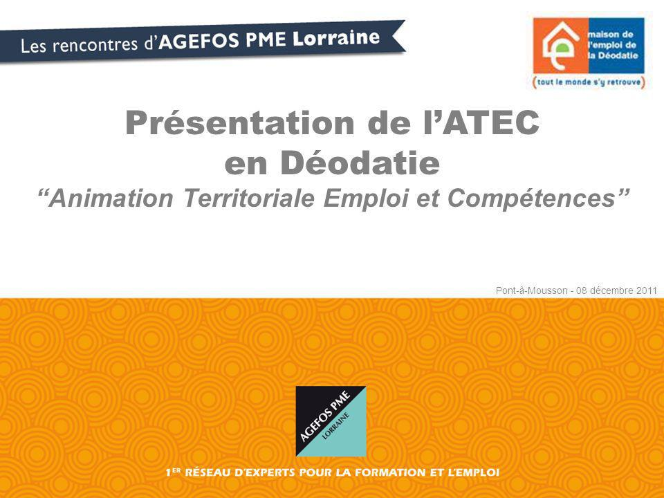 Présentation de l'ATEC en Déodatie