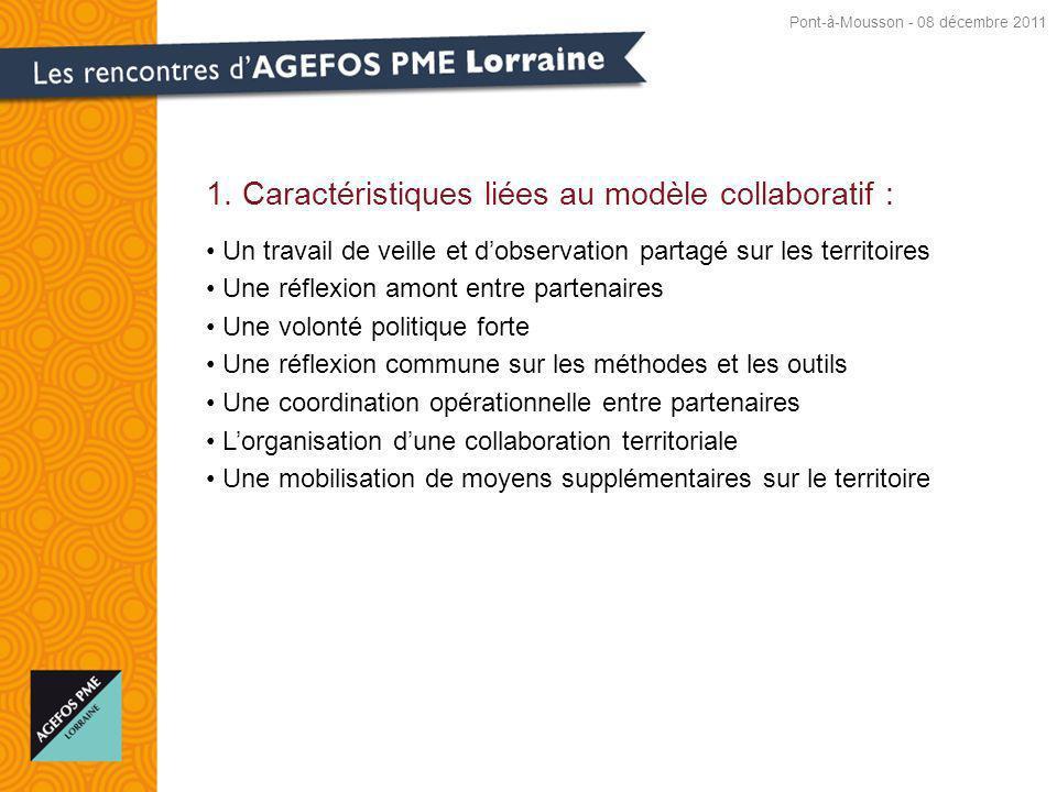 1. Caractéristiques liées au modèle collaboratif :