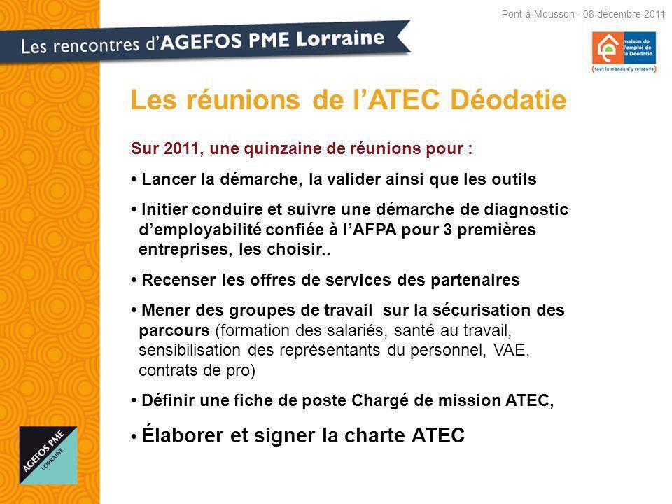 Les réunions de l'ATEC Déodatie