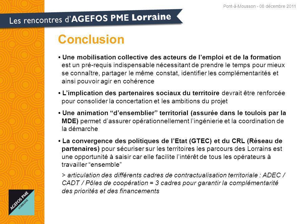 Conclusion Pont-à-Mousson - 08 décembre 2011