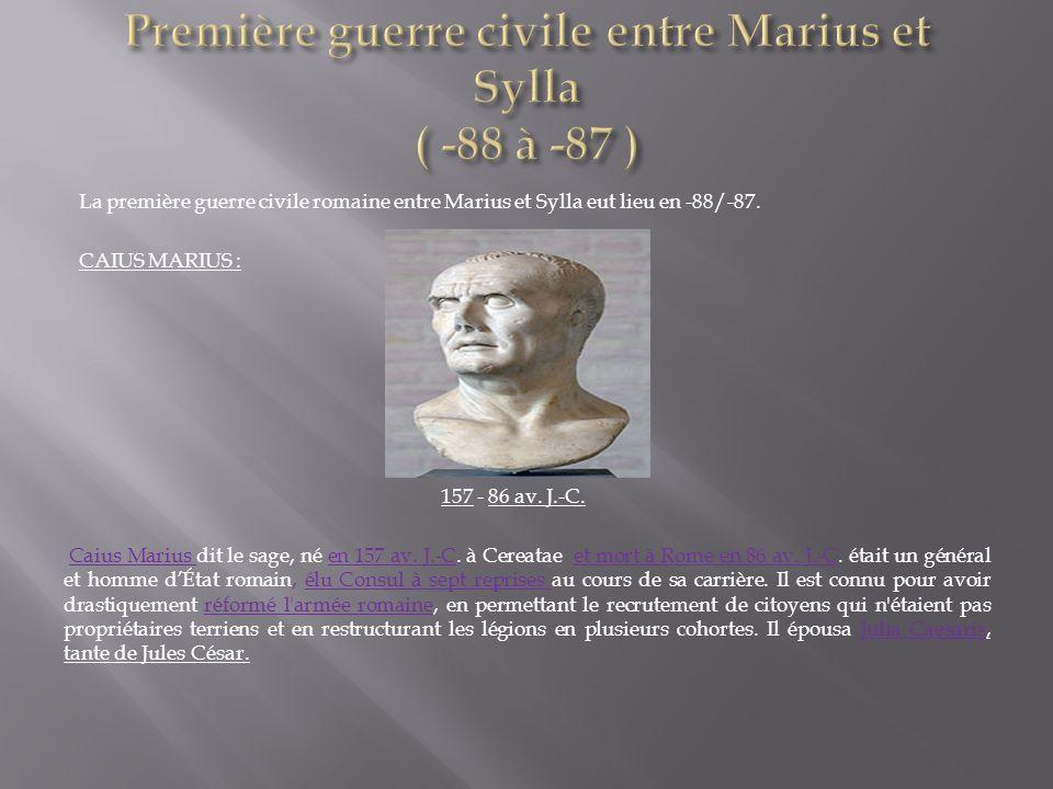 Première guerre civile entre Marius et Sylla ( -88 à -87 )