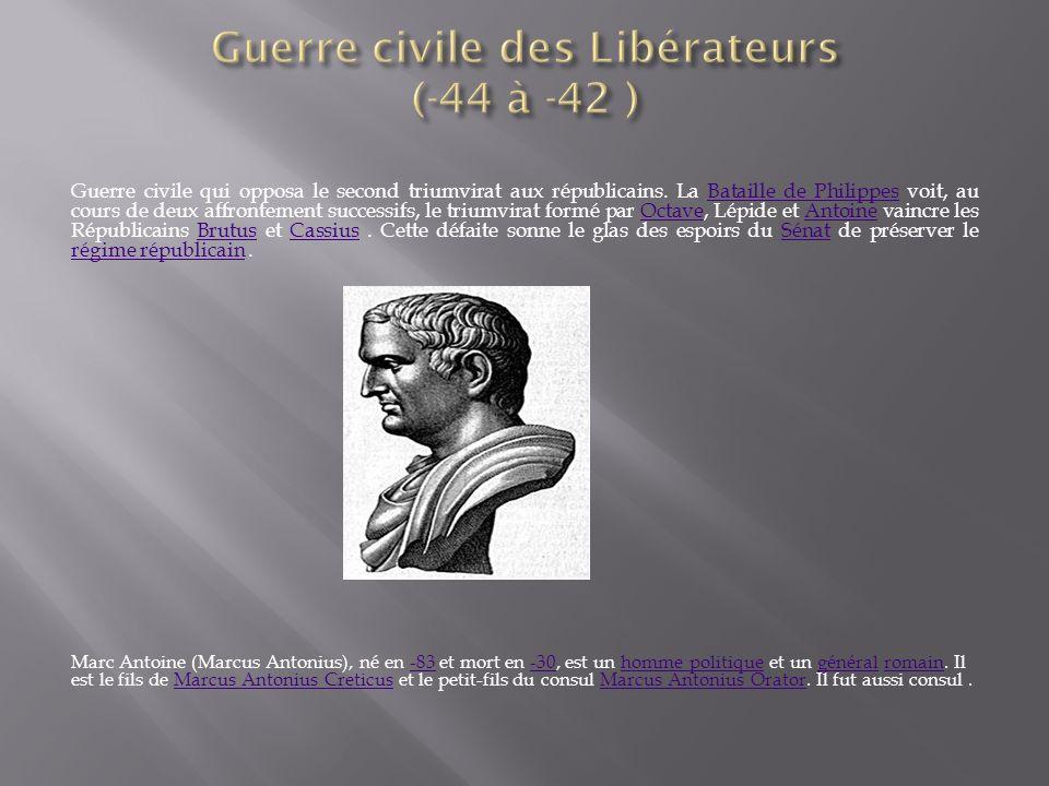 Guerre civile des Libérateurs (-44 à -42 )