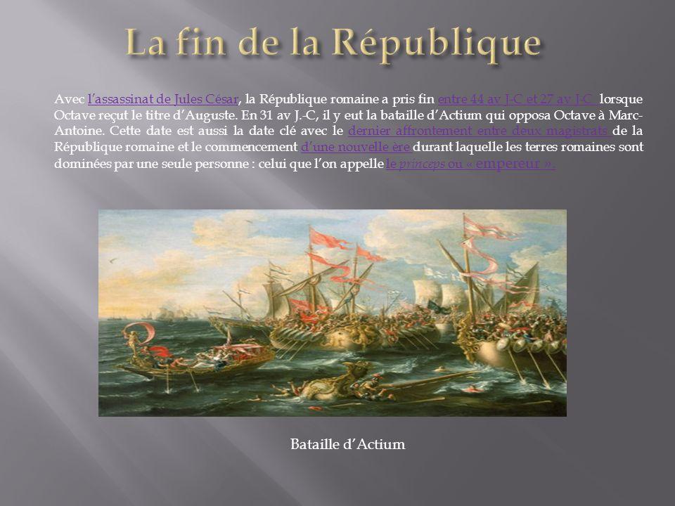 La fin de la République Bataille d'Actium