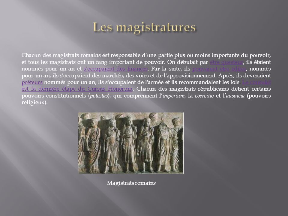 Les magistratures