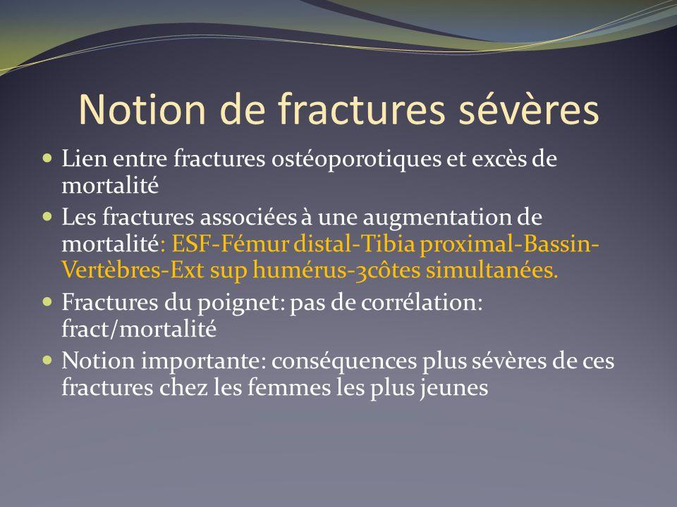 Notion de fractures sévères
