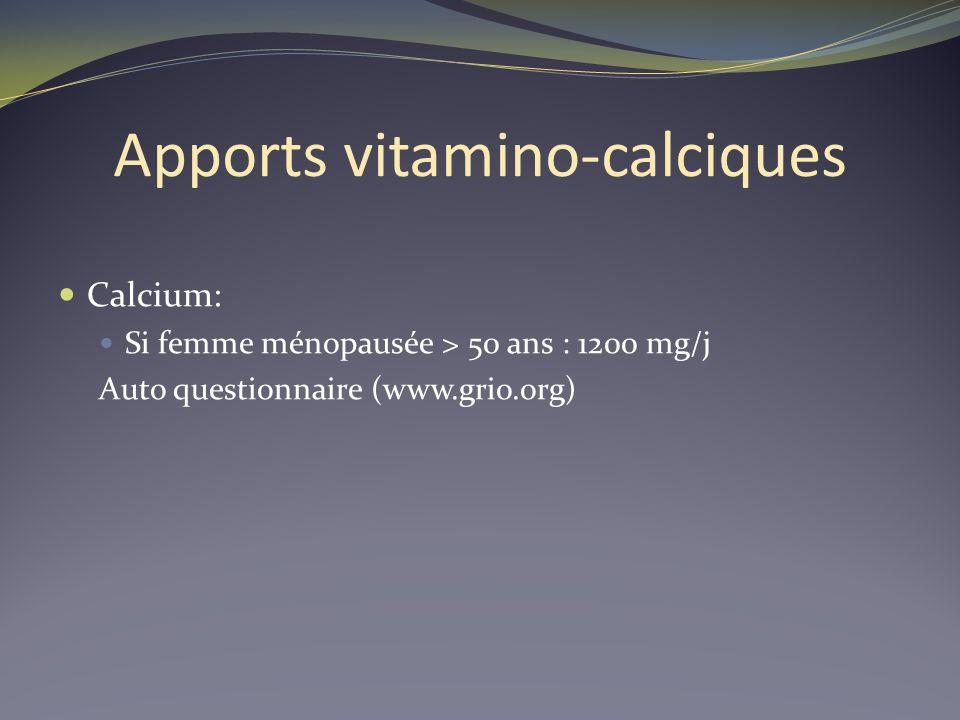Apports vitamino-calciques