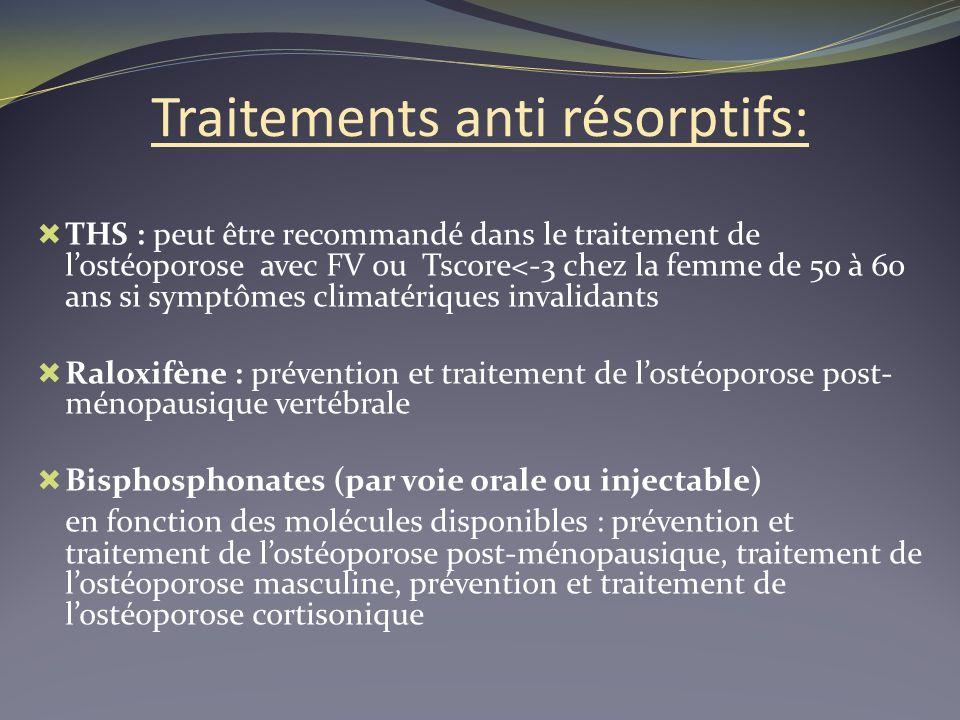 Traitements anti résorptifs:
