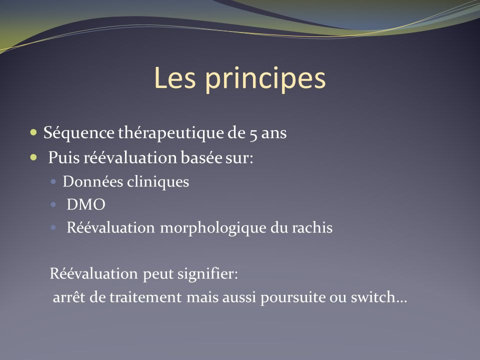 Les principes Séquence thérapeutique de 5 ans