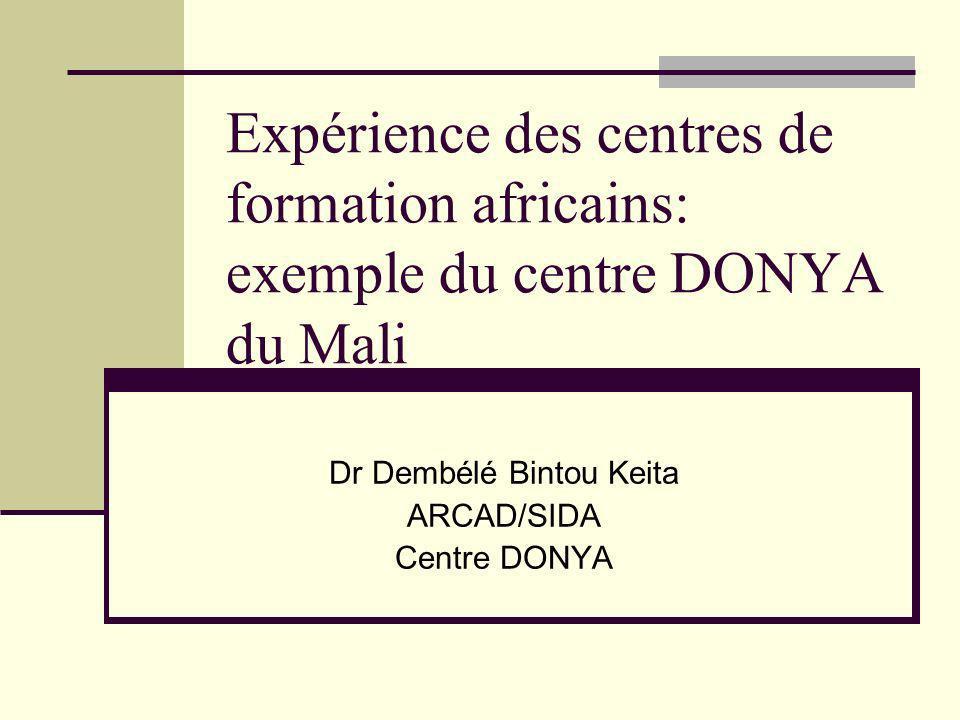 Dr Dembélé Bintou Keita ARCAD/SIDA Centre DONYA
