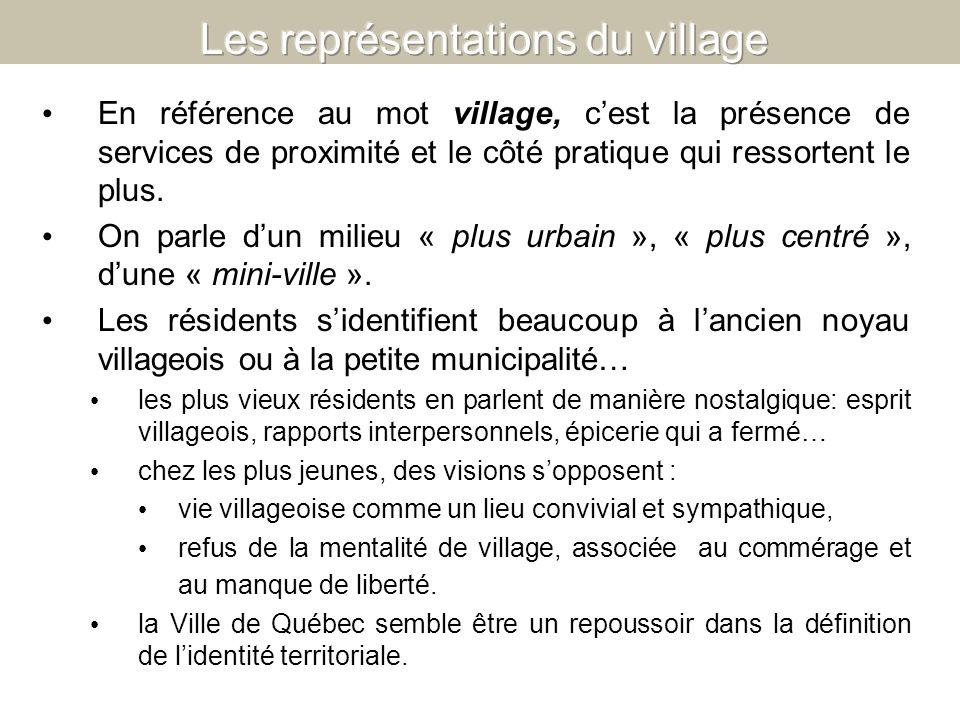 Les représentations du village