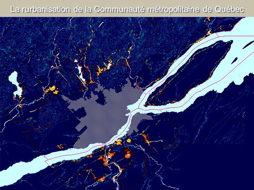 La rurbanisation de la Communauté métropolitaine de Québec