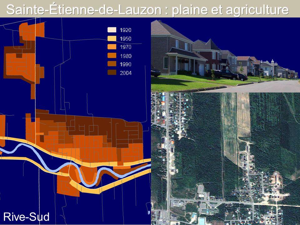 Sainte-Étienne-de-Lauzon : plaine et agriculture
