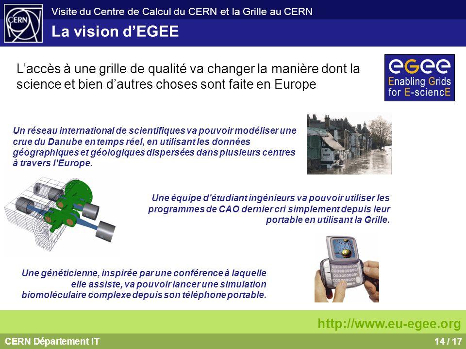 La vision d'EGEE L'accès à une grille de qualité va changer la manière dont la science et bien d'autres choses sont faite en Europe.