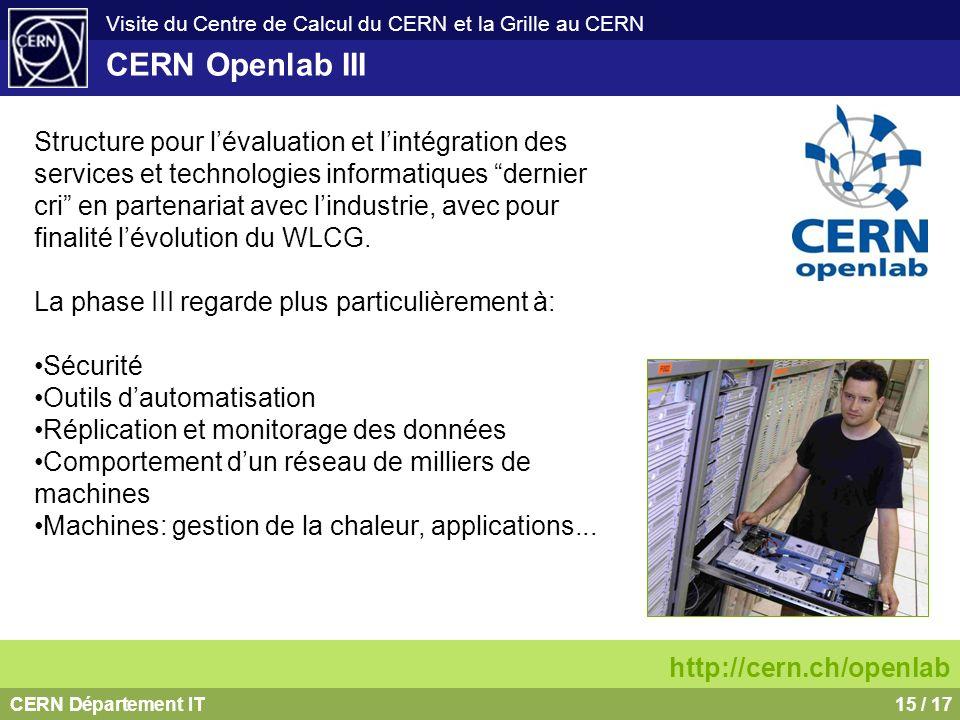 CERN Openlab III
