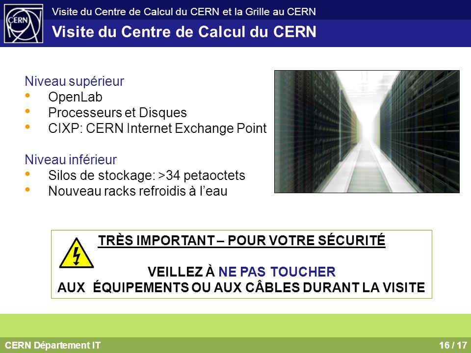 Visite du Centre de Calcul du CERN