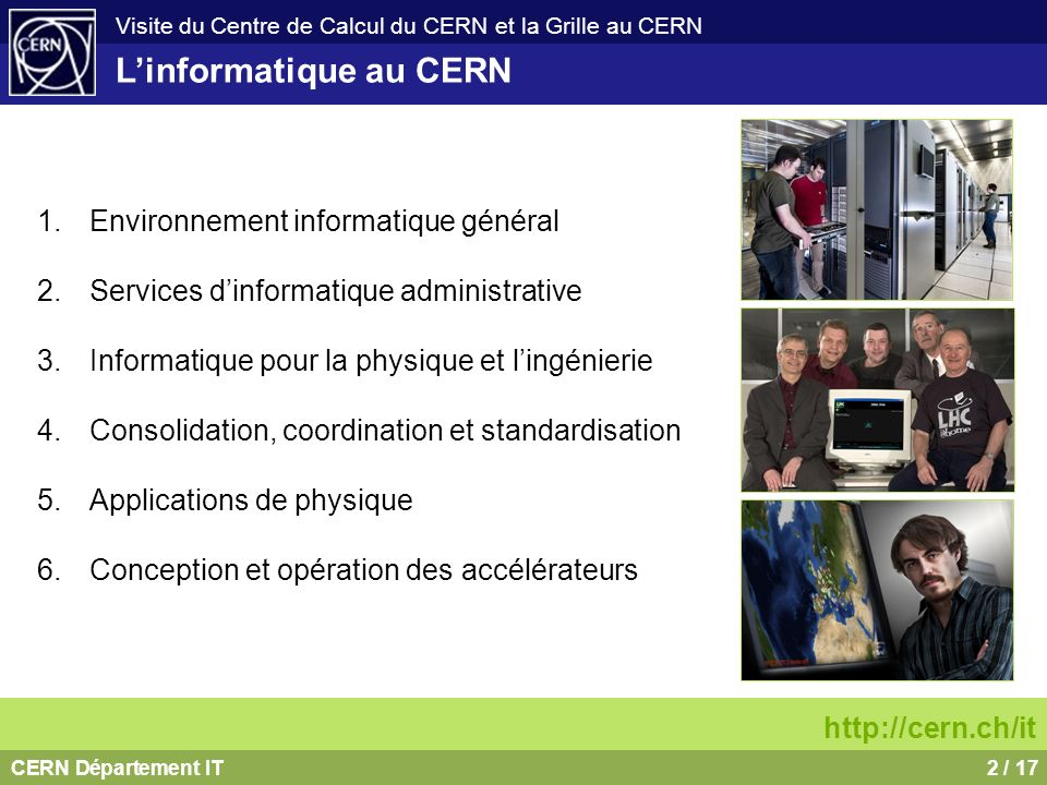L'informatique au CERN