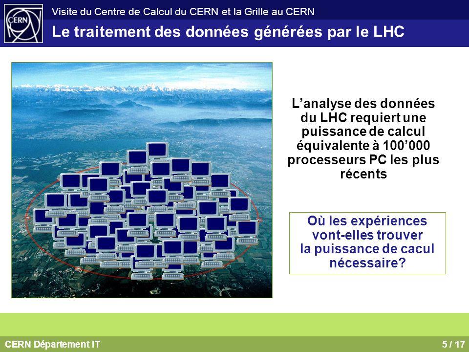 Le traitement des données générées par le LHC