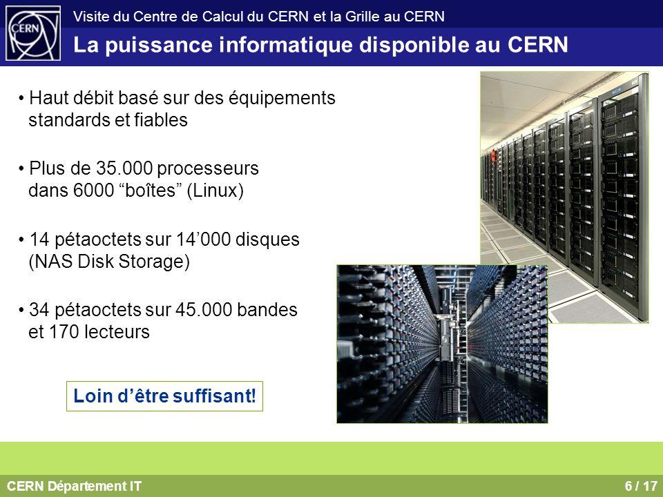 La puissance informatique disponible au CERN