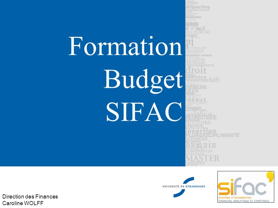 Formation Budget SIFAC