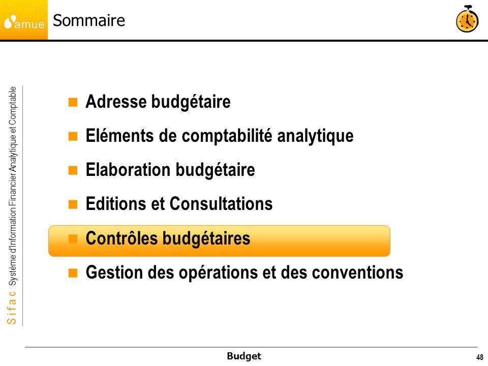 Eléments de comptabilité analytique Elaboration budgétaire