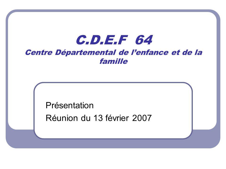C.D.E.F 64 Centre Départemental de l'enfance et de la famille