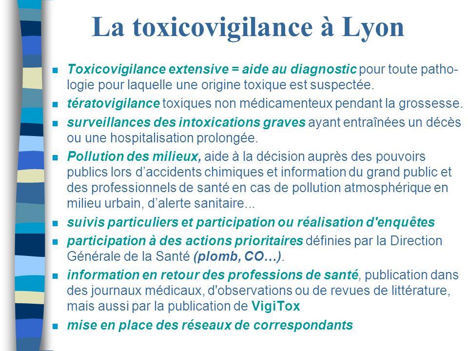La toxicovigilance à Lyon