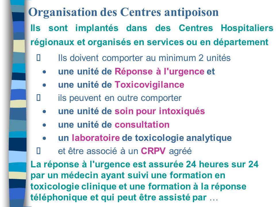 Organisation des Centres antipoison