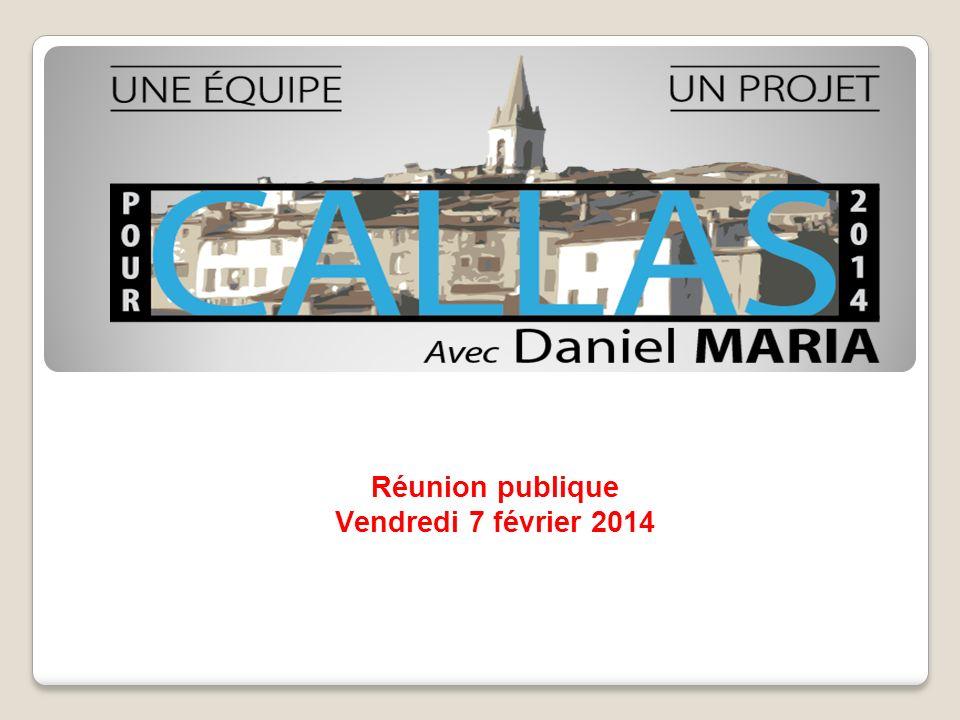 Réunion publique Vendredi 7 février 2014