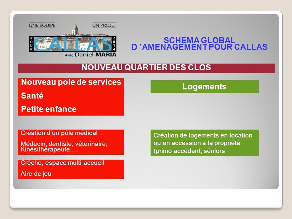 SCHEMA GLOBAL D 'AMENAGEMENT POUR CALLAS NOUVEAU QUARTIER DES CLOS