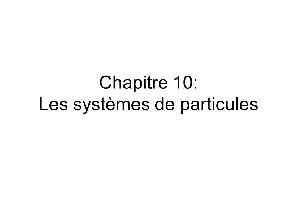 Chapitre 10: Les systèmes de particules