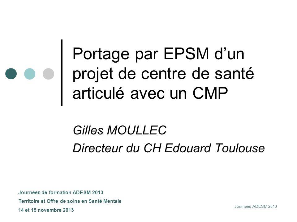 Portage par EPSM d'un projet de centre de santé articulé avec un CMP