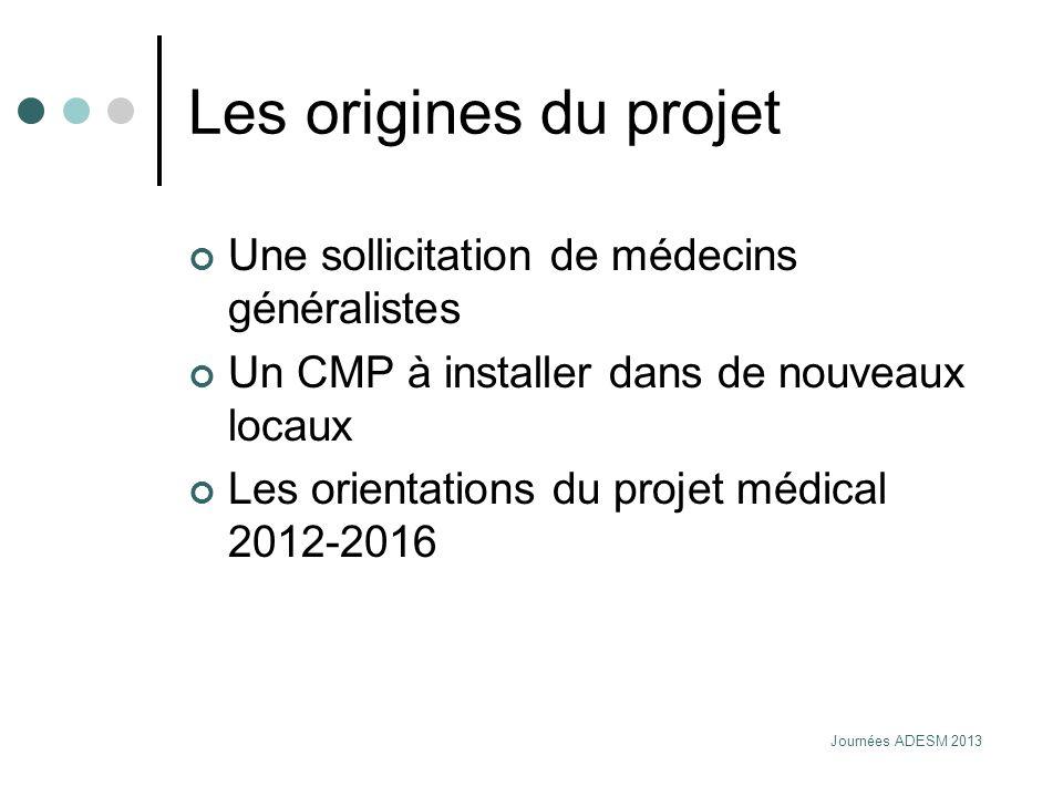 Les origines du projet Une sollicitation de médecins généralistes