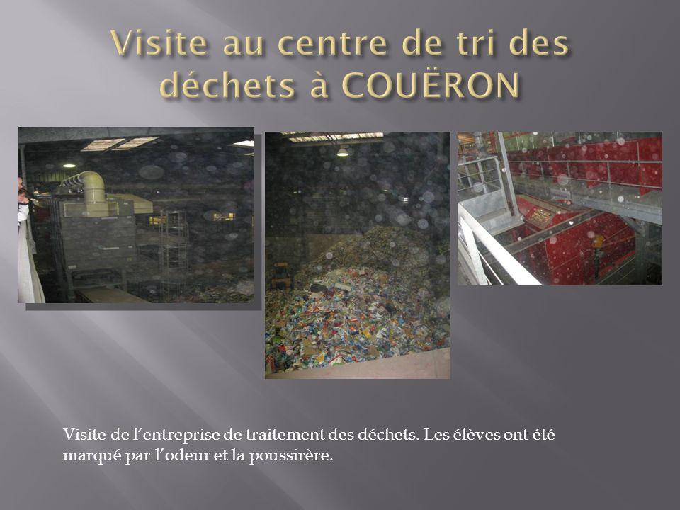 Visite au centre de tri des déchets à COUËRON