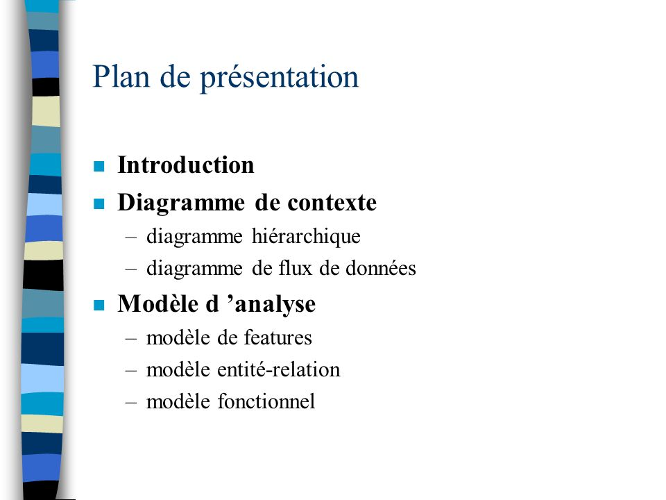 Plan de présentation Introduction Diagramme de contexte