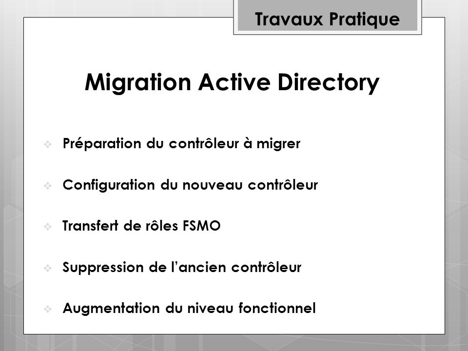Migration Active Directory