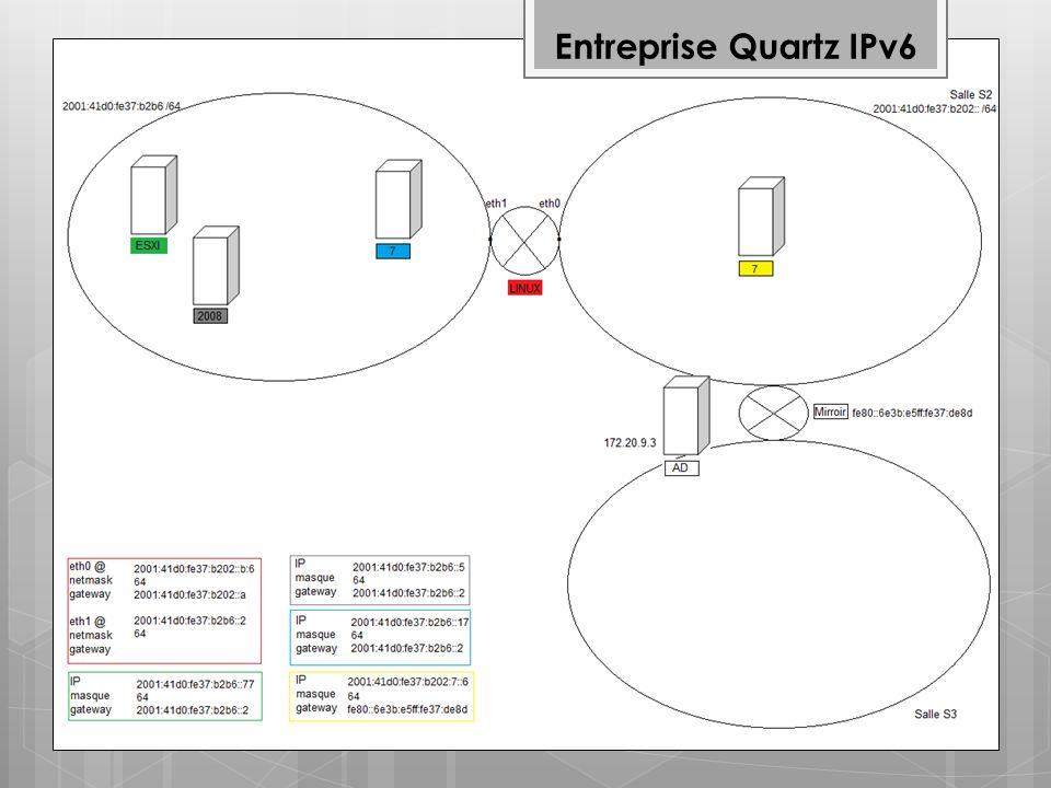 Entreprise Quartz IPv6