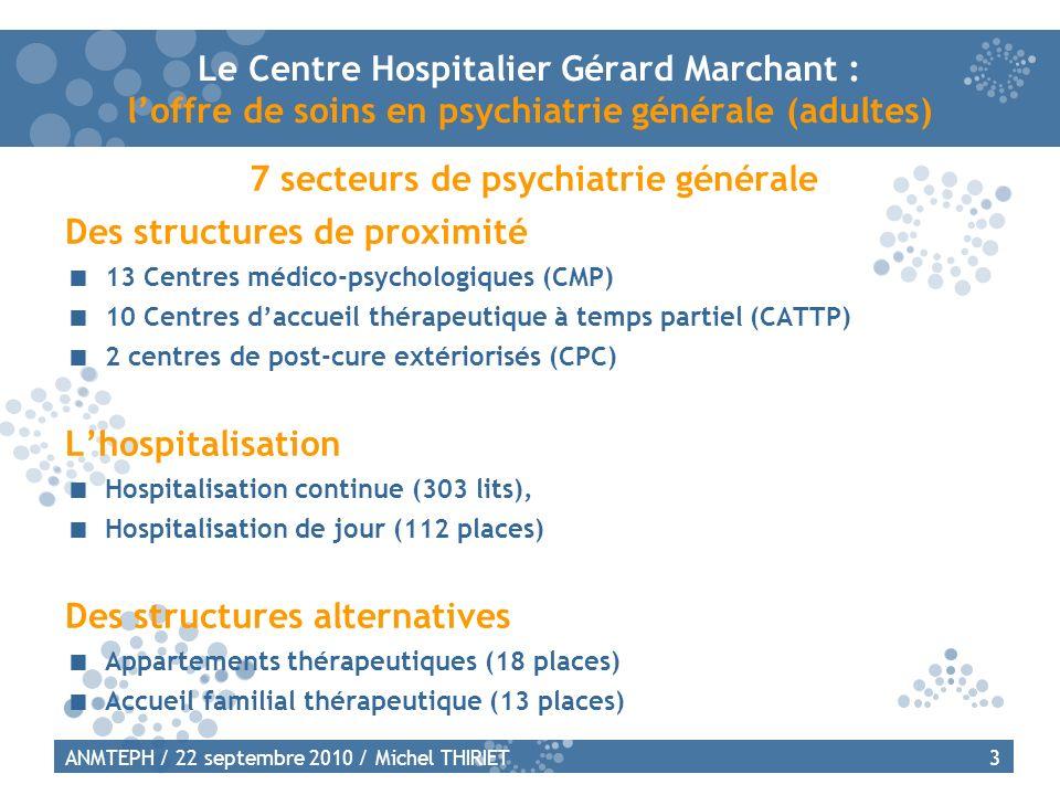 7 secteurs de psychiatrie générale