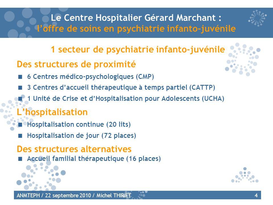 1 secteur de psychiatrie infanto-juvénile