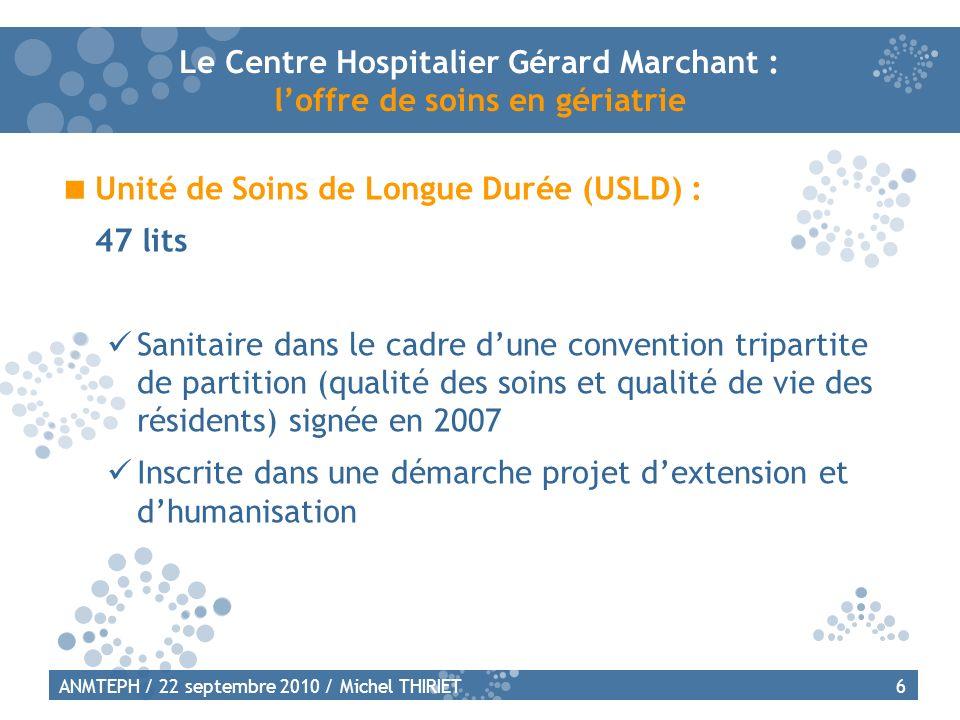 Le Centre Hospitalier Gérard Marchant : l'offre de soins en gériatrie