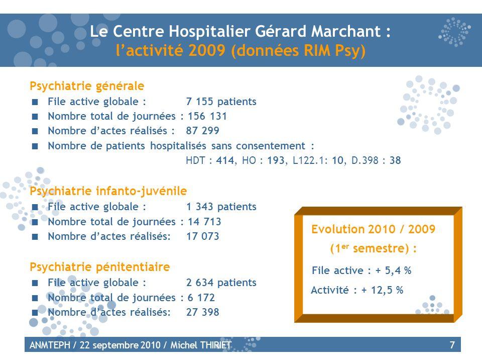 Le Centre Hospitalier Gérard Marchant : l'activité 2009 (données RIM Psy)