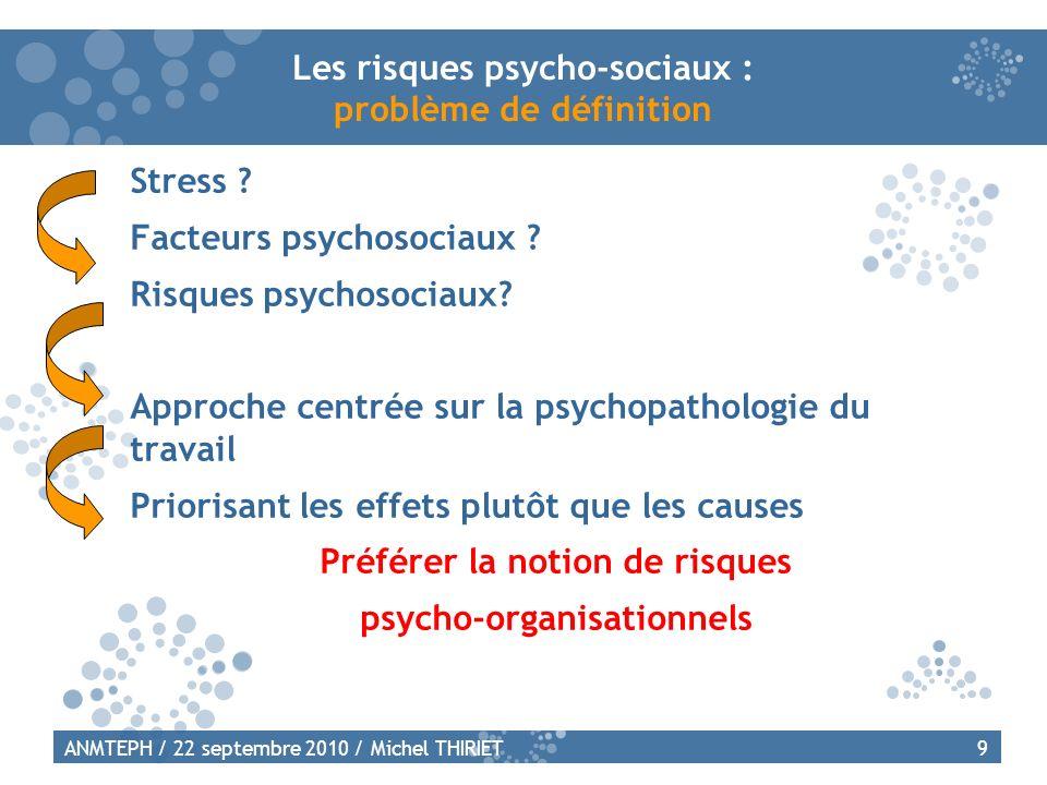 Les risques psycho-sociaux : problème de définition