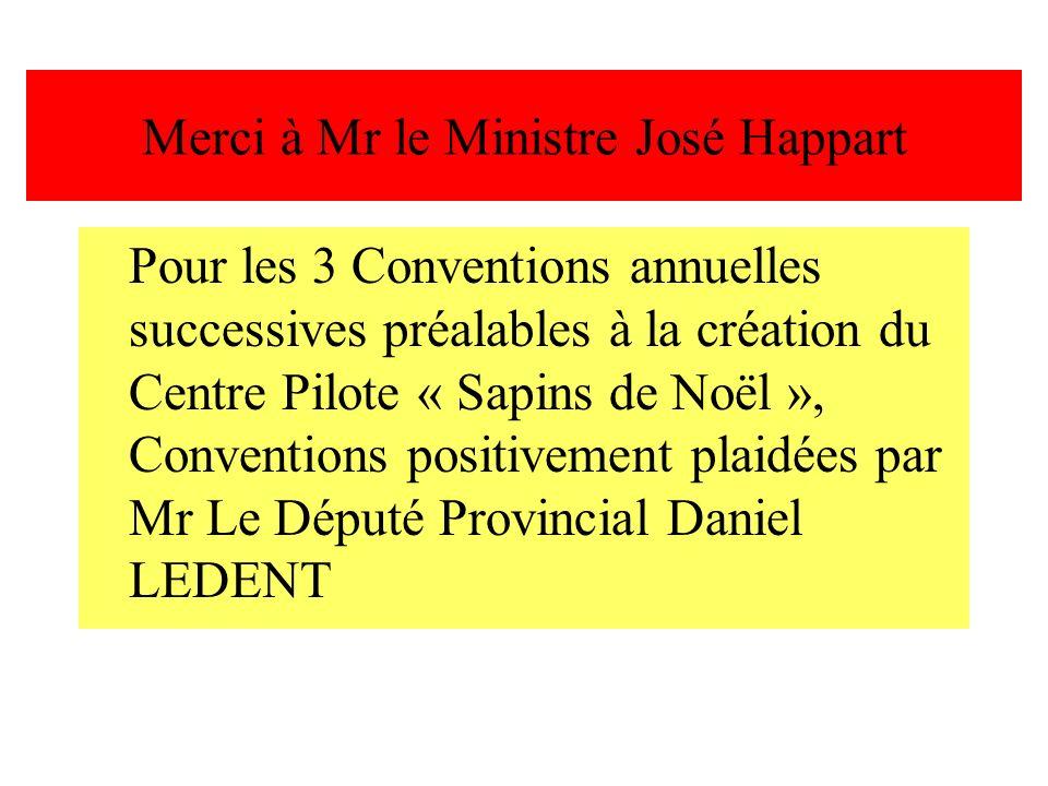 Merci à Mr le Ministre José Happart