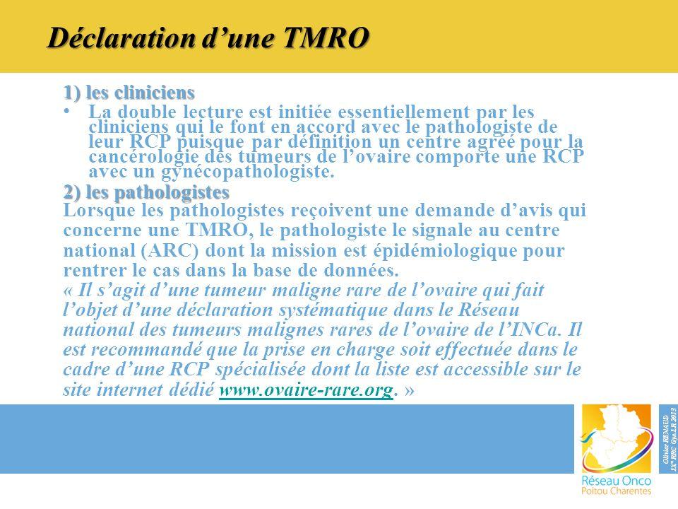 Déclaration d'une TMRO