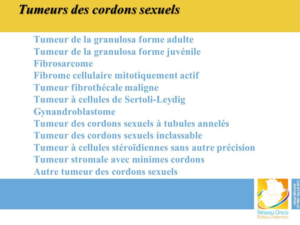 Tumeurs des cordons sexuels
